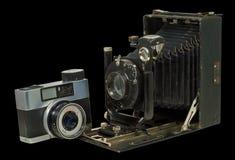 2 φωτογραφικές μηχανές δύο Στοκ Εικόνα