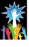 2 χέρια ποικιλομορφίας εμ& Στοκ Εικόνα