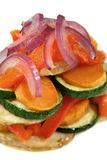 2 ψημένο λαχανικό στοιβών Στοκ Φωτογραφίες