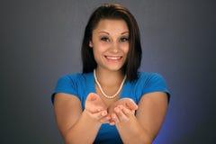 2 όμορφα κοίλα brunette χέρια Στοκ Εικόνα