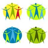2 абстрактная диаграмма логосы человека Стоковая Фотография