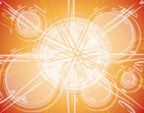 2 абстрактных круга пузырей Стоковые Фотографии RF