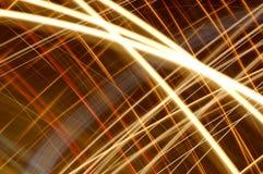 2 абстрактных накаляя линии Стоковое Изображение RF