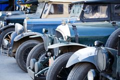 2 автомобиля старого стоковое изображение rf