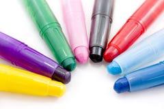 2 акриловых crayons Стоковое Изображение RF