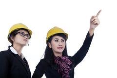 2 архитектора изолированного в белизне Стоковое Изображение