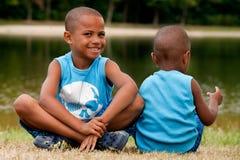 2 африканских дет Стоковые Изображения