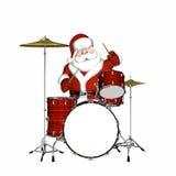 2 барабанчика играя santa Стоковая Фотография