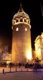 2 башни galata Стоковые Изображения