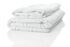 2 белых полотенца Стоковые Изображения