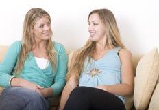 2 беседуя подруги Стоковое Фото