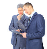 2 бизнесмена заключают дело Стоковая Фотография RF