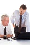 2 бизнесмена работая совместно Стоковое Изображение