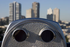 2 бинокля туристского Стоковая Фотография RF