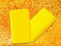 2 блока золота Стоковая Фотография