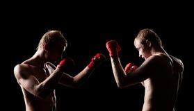 2 боксера смотря на один другого Стоковая Фотография