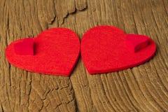 2 больших и 2 малых сердца Стоковые Фотографии RF