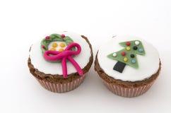 2 булочки рождества Стоковое фото RF