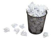2 бумаги корзины Стоковое Фото