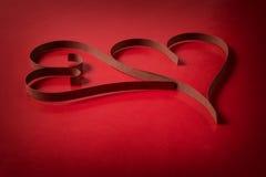 2 бумажных сердца Стоковое Фото