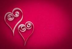 2 бумажных сердца Стоковое фото RF