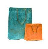2 бумажных хозяйственной сумки Стоковая Фотография RF