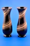 2 вазы деревянной Стоковое фото RF
