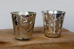 2 ведра утюга для champagner с сердцами Стоковые Изображения