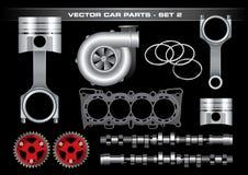 2 вектор автомобиля установленный частями Стоковое Фото