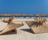 2 верхней части от зонтиков пляжа Стоковая Фотография RF