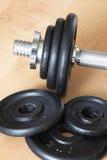 2 веса части dumbell Стоковые Изображения
