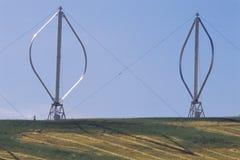 2 ветротурбины вертикальн-оси Стоковая Фотография