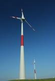 2 ветрянки Стоковые Фотографии RF