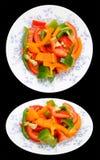 2 взгляда салата перца Стоковая Фотография RF