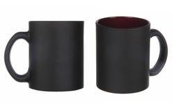 2 взгляда черной чашки Стоковые Фотографии RF