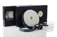 2 видеоленты и вьюрка Стоковые Изображения RF