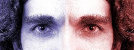 2 глаза стоковое изображение rf
