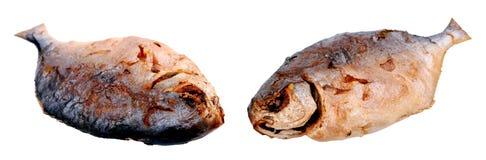 2 глубоких зажаренных рыбы Стоковая Фотография