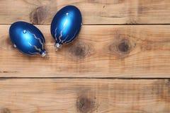 2 голубых шарика Стоковая Фотография