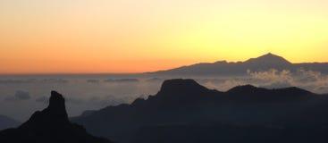 2 горы gran canaria Стоковая Фотография