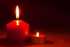 2 горящих свечки Стоковые Изображения RF