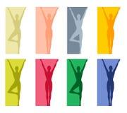 2 граници танцуют йога пригодности Стоковая Фотография