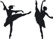 2 грациозно артиста балета Стоковые Фотографии RF