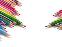 2 группы в составе карандаши цвета Стоковая Фотография