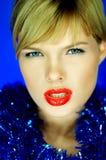 2 губы красной стоковое фото rf