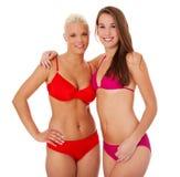 2 девушки в бикини Стоковые Изображения RF