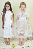 2 девушки любят ангелы Стоковые Фото