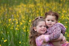 2 девушки цветка стоковые фотографии rf