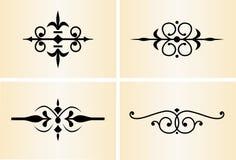 2 декоративных орнамента Стоковые Фото
