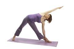 2 делая предыдущих детеныша йоги беременной женщины Стоковые Фото